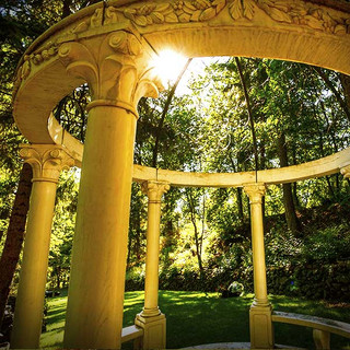 This beautiful gazebo is part of an estate.
