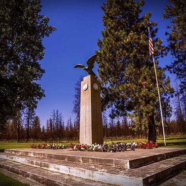 Veterans Memorial on Upper Terrace