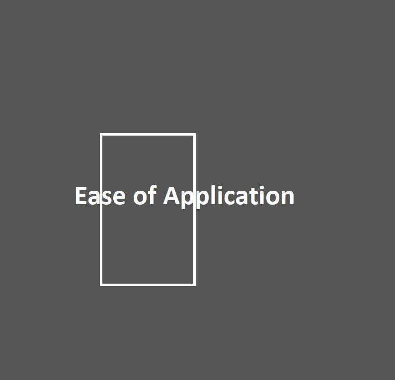 Ease of application