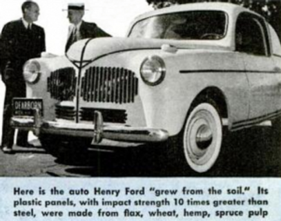 Ford Hemp Body Car  - Popular Mechanics Magazine Dicembre 1941 Vol. 76 - pag. 3