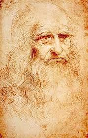 """Figura 1 """"Autoritratto"""" Leonardo da Vinci su carta di canapa e lino - 33,5 x 21,6"""