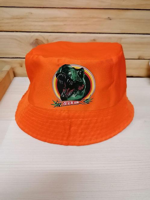 Cappellino T-REX stile pescatore arancione