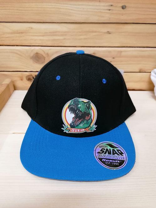 Berretto T-REX nero con visiera azzurra