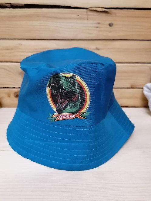 Cappellino T-REX stile pescatore azzurro