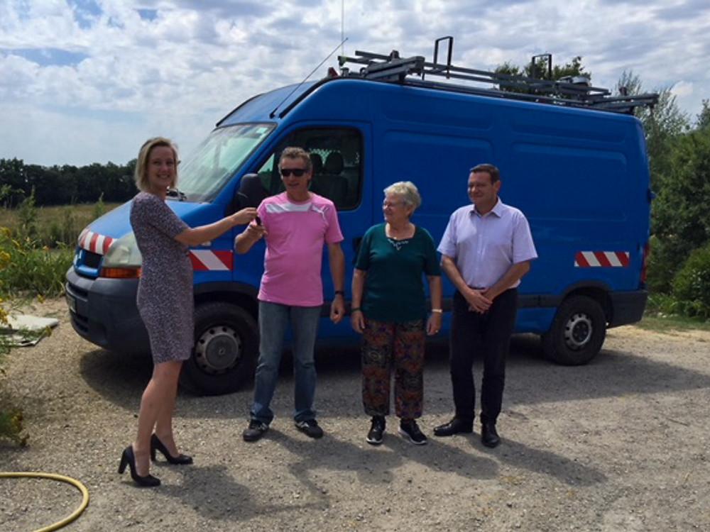 En 2018, GrDF a offert un Renault Master aux Jardins de Cocagne de Fleurance