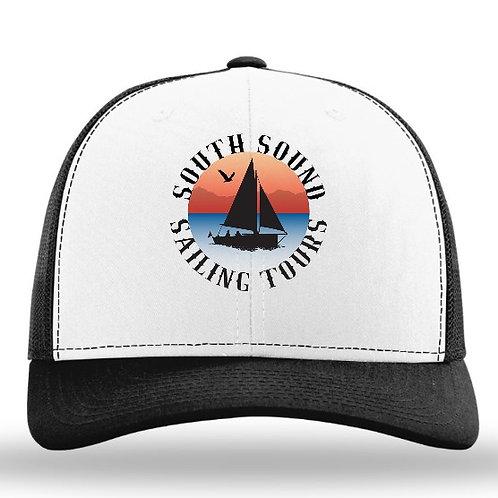 SSST Logo Snapback Hat - Black/White