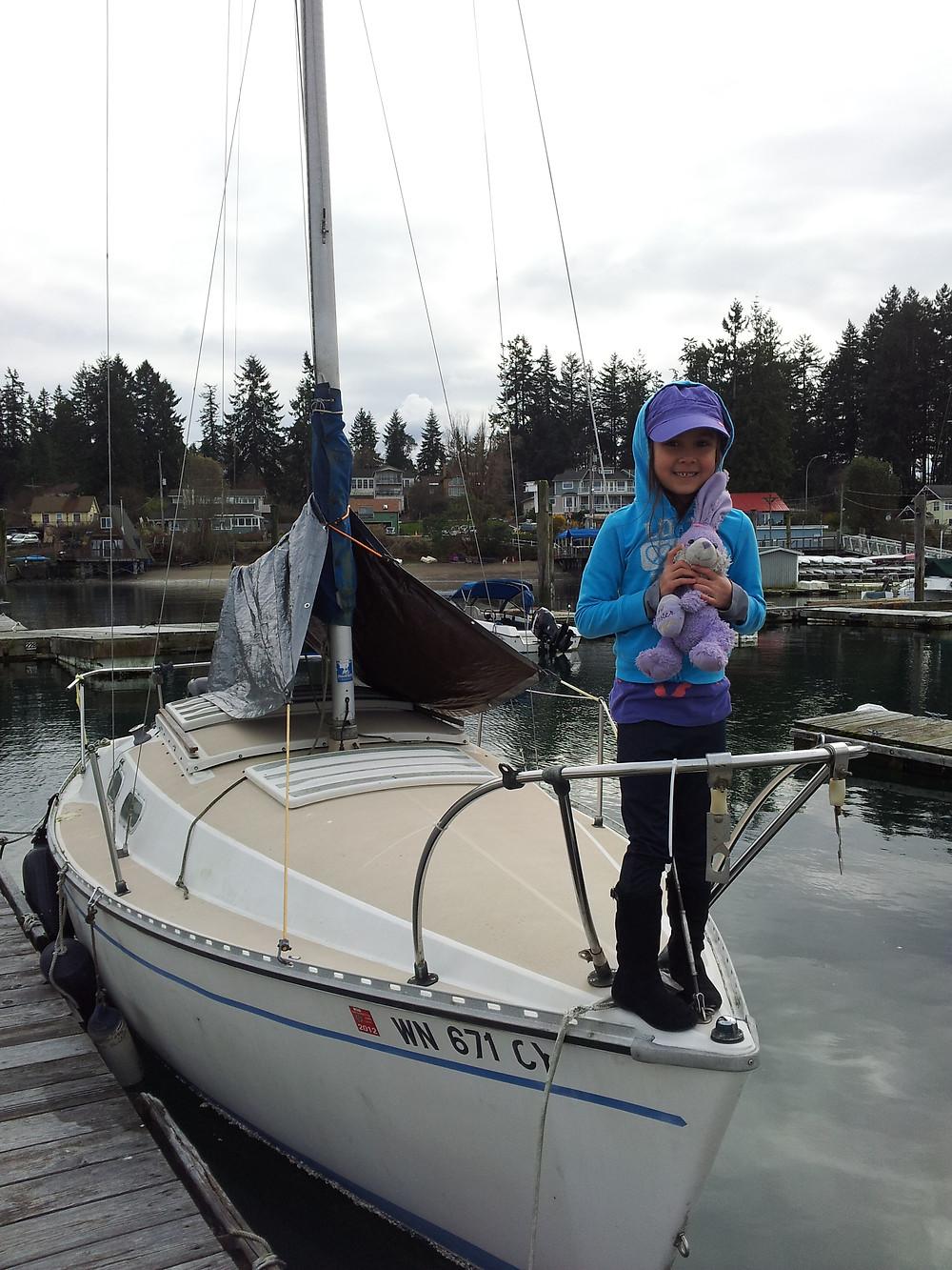 Zana Kanyaa on our 1977 Chrysler 22 sailboat
