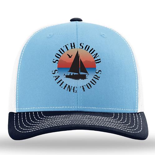 SSST Logo Snapback Hat - Columbia Blue/White/Navy