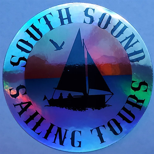 """3"""" SSST Logo Holograph Sticker - round"""