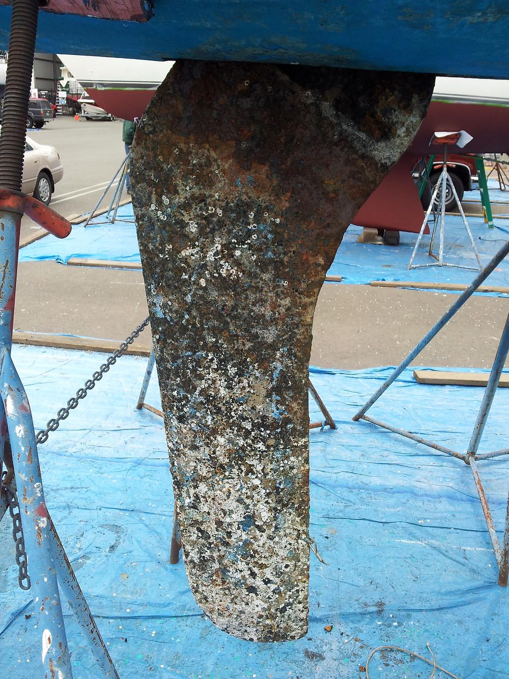 Keel repair on a 1977 Chrysler 22 sailboat