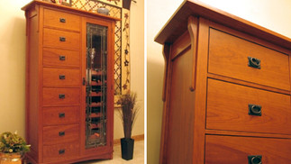 Cherry Wine Cabinet
