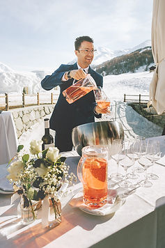 Aperitivo all'aria aperta per Italian Alps Wedding