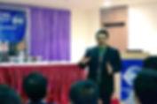 Sanjay Shail speaking in Toastmaster