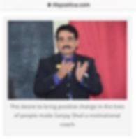 Sanjay Shail on life positive