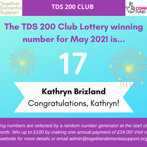 The 200 Club Lottery winner for May is…