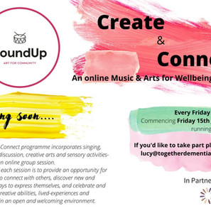 Create & Connect – An Online Music and Arts for Wellbeing Series