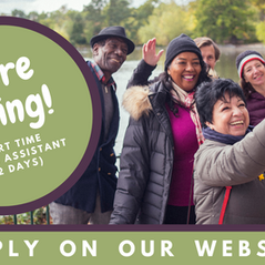 We're hiring! Part time Admin Assistant (2 days)