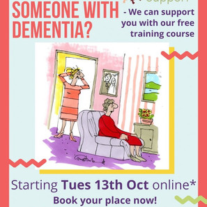 Carers Training for Trafford Carers!