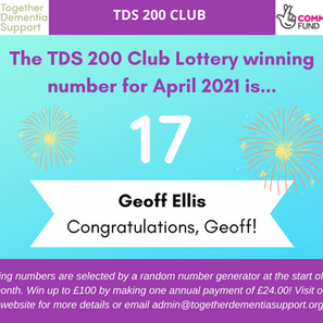 The 200 Club Lottery Winner for April is…