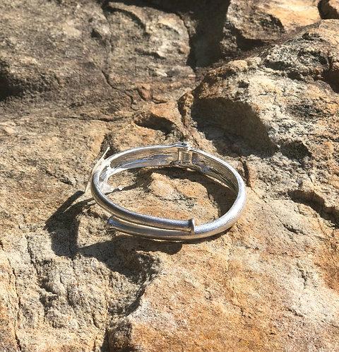 Worn Silver Nail Bracelet