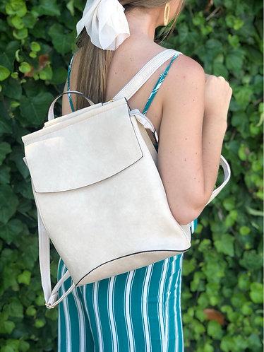 Beige Slimline Backpack