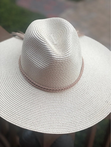 Ivory Fedora Styled Beach Hat
