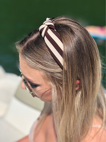 Brown/Cream Knotted Headband