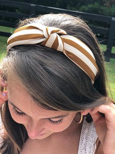 Mustard/Cream Knotted Headband
