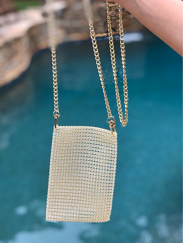 Gold Mesh Shoulder Bag