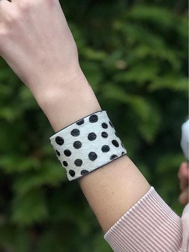 Cowhide Animal Print Cuff Bracelet