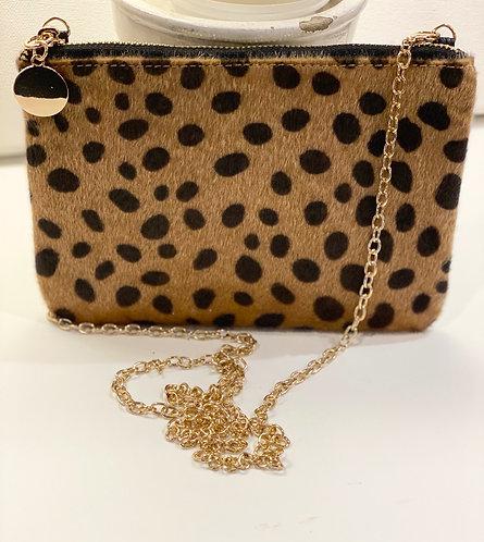 Jillian Leopard Zip Clutch