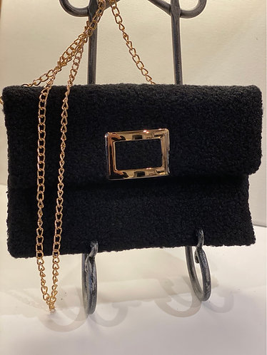 Black Rosemary Buckle Clutch