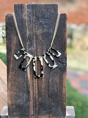 Light Tortoise Multiple Rectangle Necklace