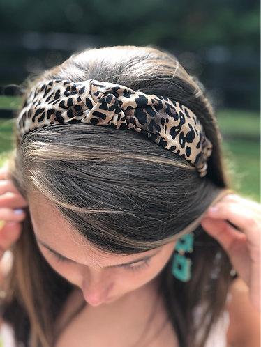 Leopard Print Knotted Headband