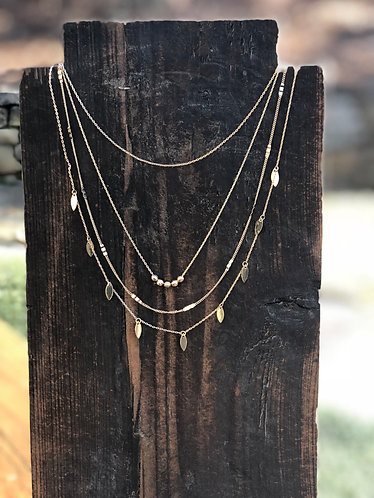 Gold Dainty Quadruple Layered Necklace