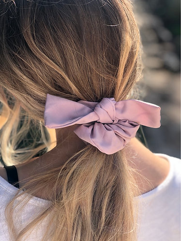 Pink Hair Scrunchie w/ Bow