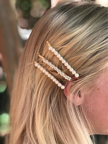 Trendy Pearl Hair Clips