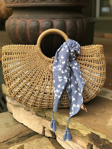 Lola open weave wedge bag