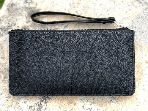 Sassy Faux Leather Wristlet