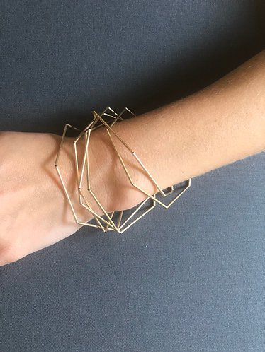 Gold multi bangle bracelet