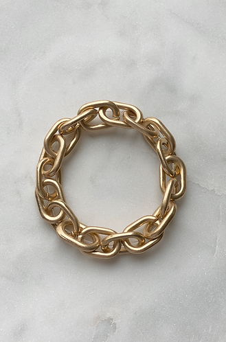 Gold Chain Stretch Bracelet