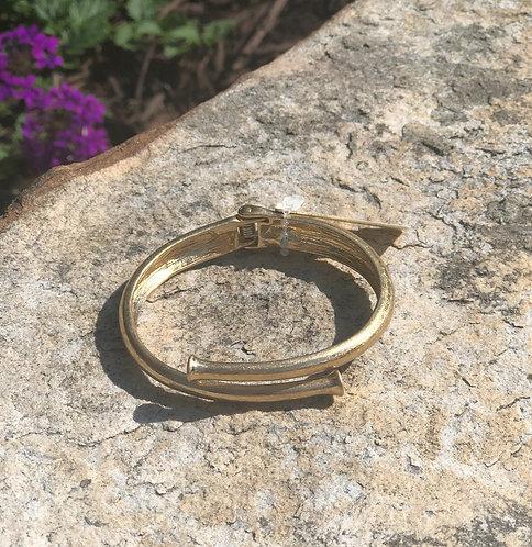 Worn Gold Nail Bracelet