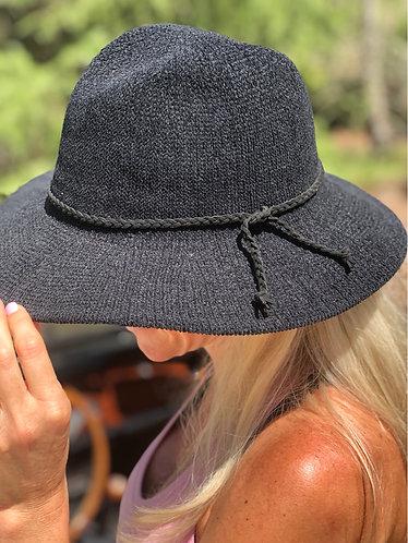 Black Chenille Safari Hat