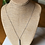 Thumbnail: Long Silver Tube Necklace