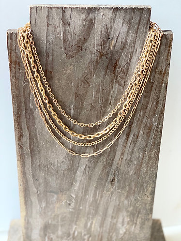 Gold Multi Chainlink Necklace