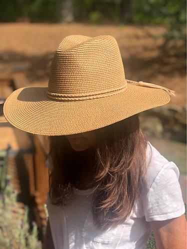 Tan St. Thomas Fedora Style Beach Hat