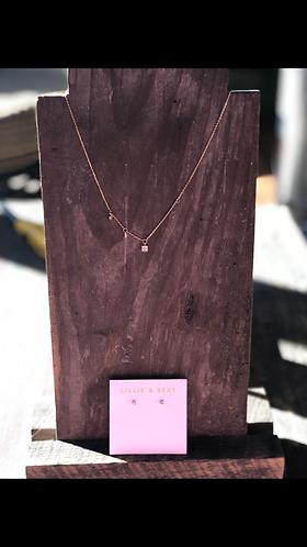 Gold Dainty Pave Necklace