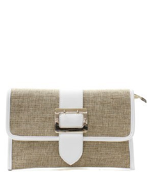 Jute Clutch Messenger Bag