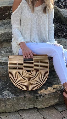 Bamboo Half Moon Bag