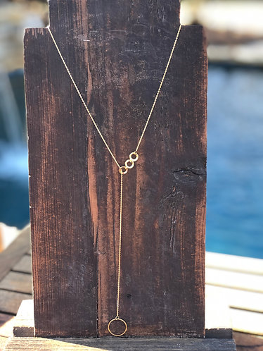 Dainty Gold & Necklace w/Triple Circle